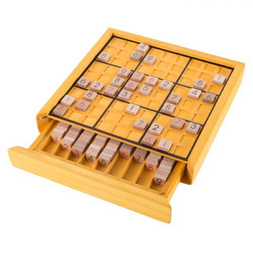 Hey Play M350067 Wood Sudoku Board Game Set