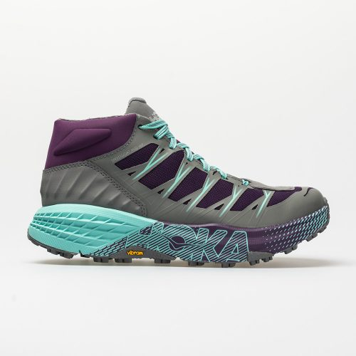 Hoka One One Speedgoat Mid WP: Hoka One One Women's Hiking Shoes Grape Royale/Alloy