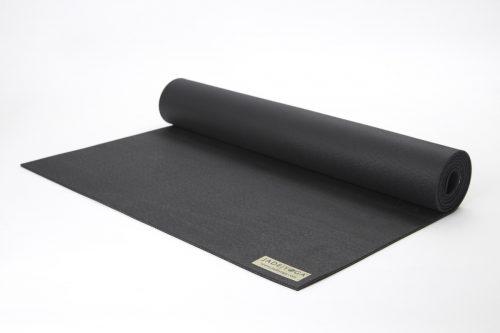 Jade Yoga 868BK Travel Yoga Mat - Black - 0.12 x 68 in.