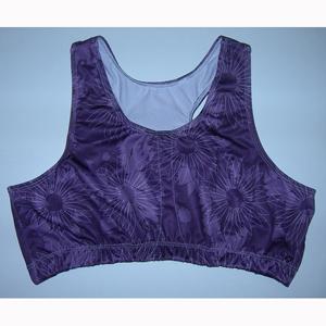 LORA5350 Loraine Mastectomy Sports Bra Purple - 2XL