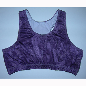 LORA5350 Loraine Mastectomy Sports Bra Purple - Small