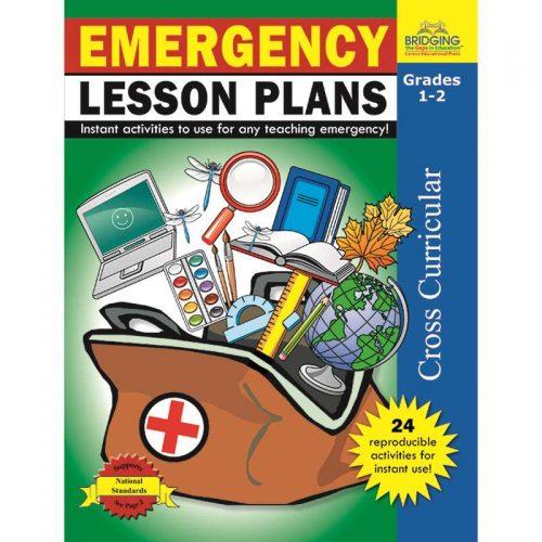 Milliken Lorenz Educational Press M-P901014LEBN Emergency Lesson Plans Grade 1-2 - Pack of 3