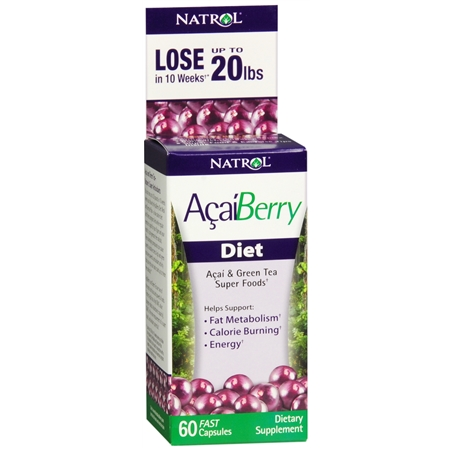 Natrol Acai Berry Diet Dietary Supplement Capsules - 60 ea