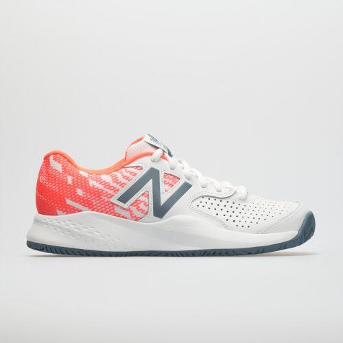 New Balance 696v3: New Balance Women's Tennis Shoes White/Dragonfly