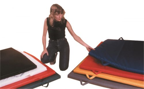 Non Folding Mat with Handle - 2 in. Envirosafe Foam with Cover Specify Color - 4 x 7 ft.