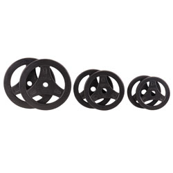 PowerSystems 61932 5 lbs Deluxe CardioBarbell Plate - Black Single