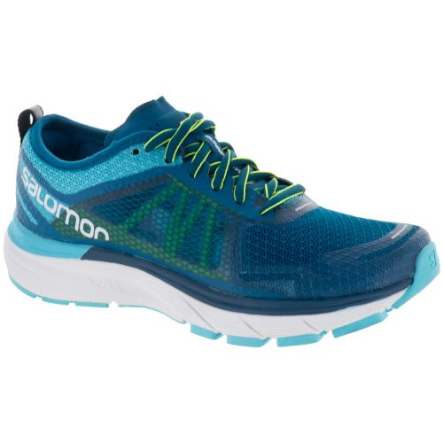 Salomon Sonic RA Max: Salomon Women's Running Shoes Blue Curacao/Deep Lagoon/Safety Yellow