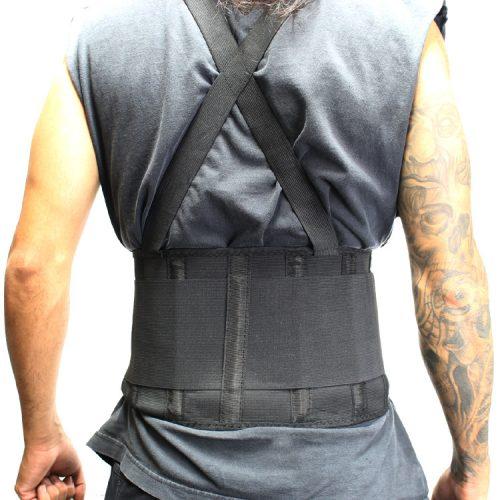 Shelter 206-XXL Perrini Pain Relief Support Belt Back Waist Gear Weight Lifting Belt Black - 2XL