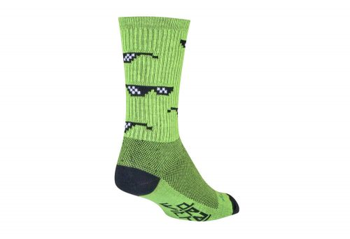 Sock Guy Boss Crew Socks - green, l/xl