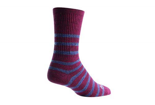 "Sock Guy Gents 6"" Wool Crew Socks - maroon/grey, l/xl"
