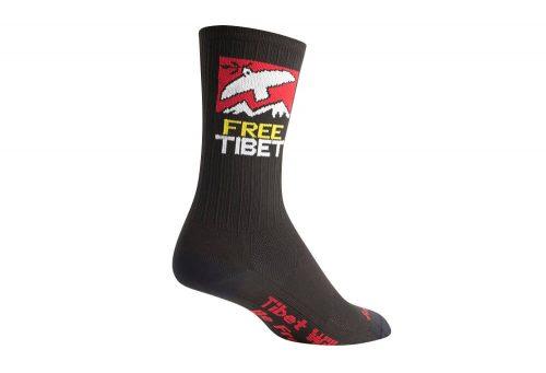 "Sock Guy SGX 6"" Free Tibet Socks - black, s/m"