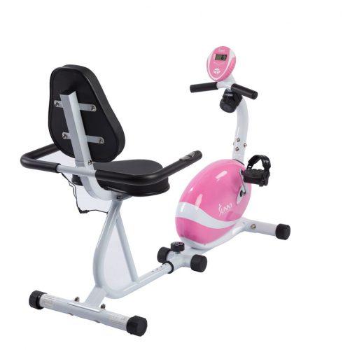 Sunny Health & Fitness P8400 Magnetic Recumbent Bike Pink