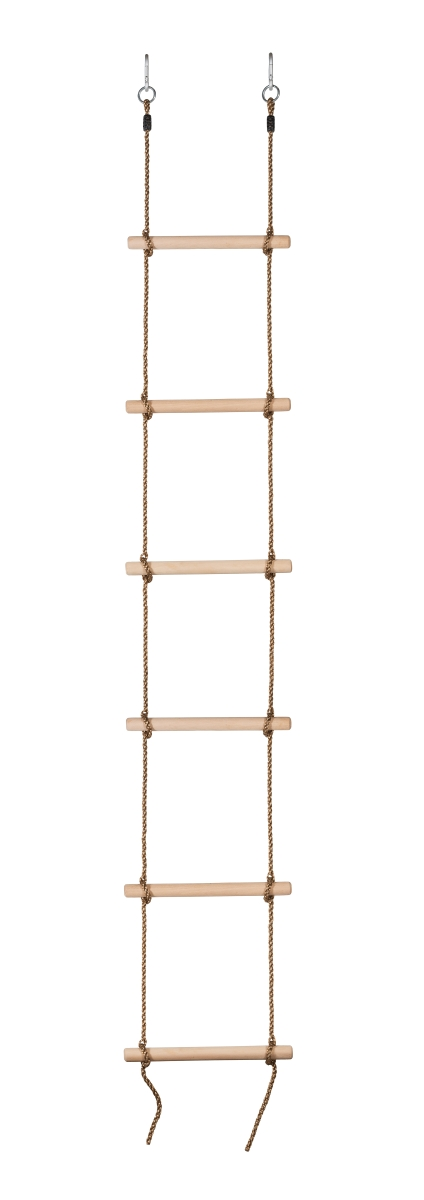 Swingan SW-WLR 6 Steps Gymnastic Climbing Rope Ladder - 4.5 x 6.5 x 4.5 in.