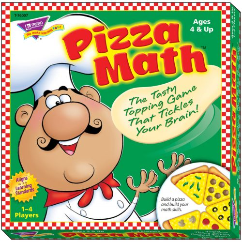 Trend Enterprises T-76007BN Learning Games Pizza Math - Pack of 2
