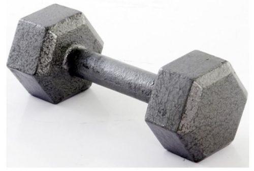 Weider NHD5-S 5 lbs Hex Dumbbell Gray