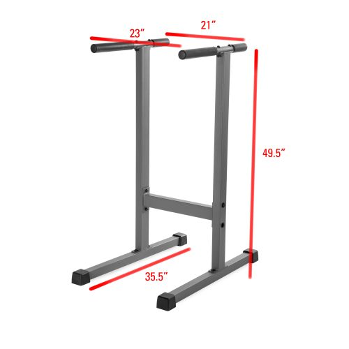 Xmark Fitness XM-4443 Dip Stand 7 x 9 x 51 in.