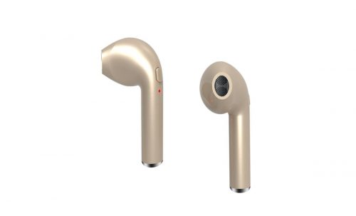 ZTech ZTH010G Wireless Music Headphones In-Ear with charging case for iPhone & Androids - Gold