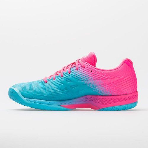 ASICS Solution Speed FF L.E.: ASICS Women's Tennis Shoes Aquarium/Hot Pink