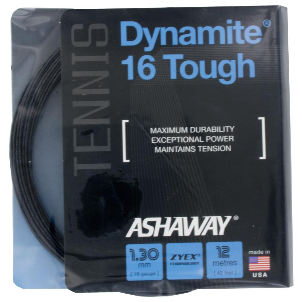 Ashaway Dynamite 16 Tough Black: Ashaway Tennis String Packages