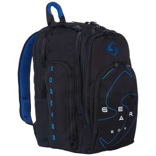 Gearbox Backpack Black/Blue: Gearbox Racquetball Bags