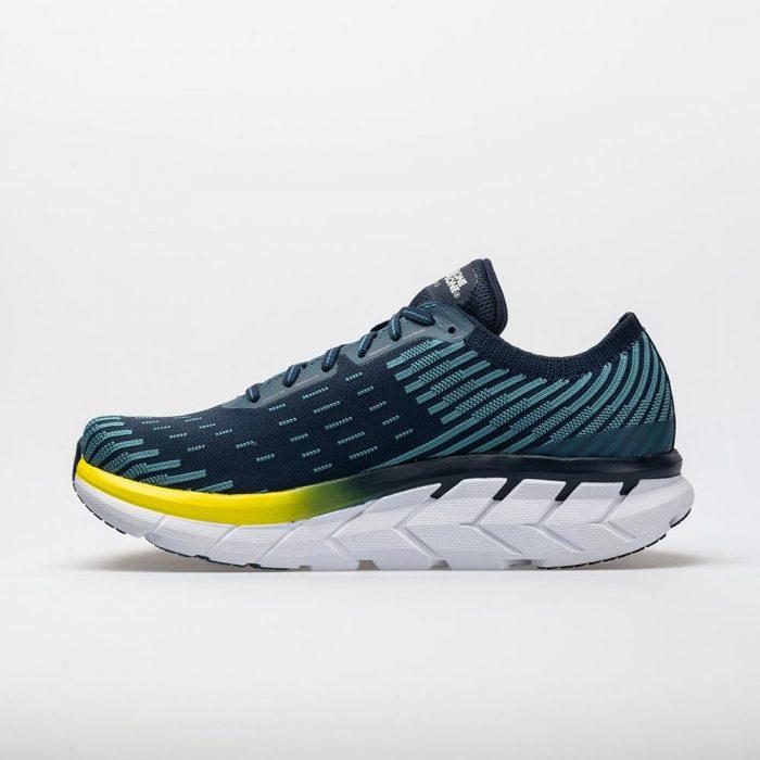 Hoka One One Clifton 5 Knit: Hoka One One Men's Running Shoes Black Iris/Storm Blue