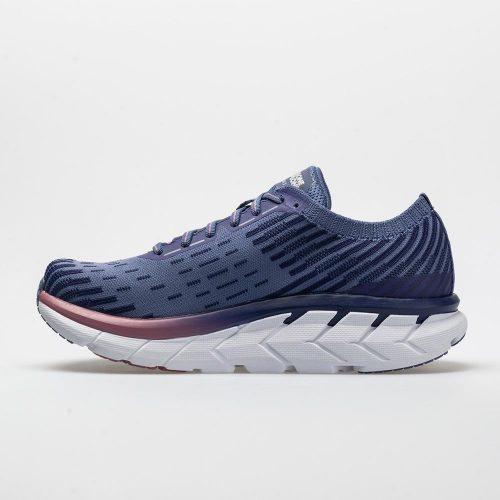 Hoka One One Clifton 5 Knit: Hoka One One Women's Running Shoes Marlin/Blue Ribbon