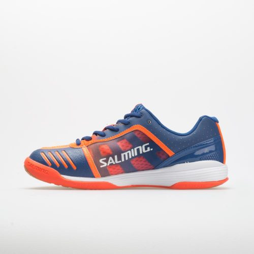 Salming Falco: Salming Men's Indoor, Squash, Racquetball Shoes Limoges Blue/Orange Flame