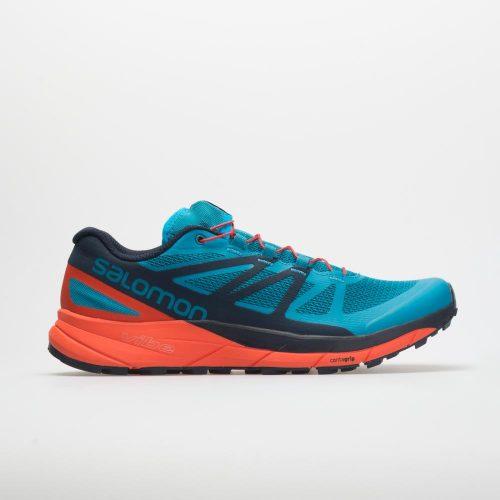 Salomon Sense Ride: Salomon Men's Running Shoes Fjord Blue/Cherry Tomato/Navy Blazer