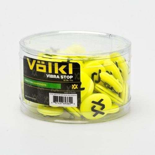 Volkl Vibrastop Jar 48 Pieces Neon Yellow/Black: Volkl Vibration Dampeners