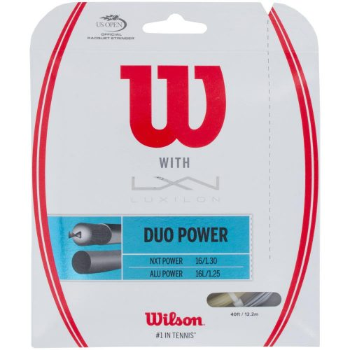 Wilson Duo Power ALU Power 125 + NXT Power 16: Wilson Tennis String Packages