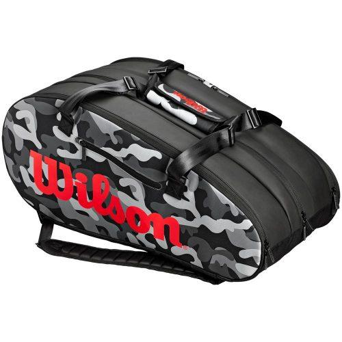 Wilson Super Tour Camo 15 Racquet Bag: Wilson Tennis Bags