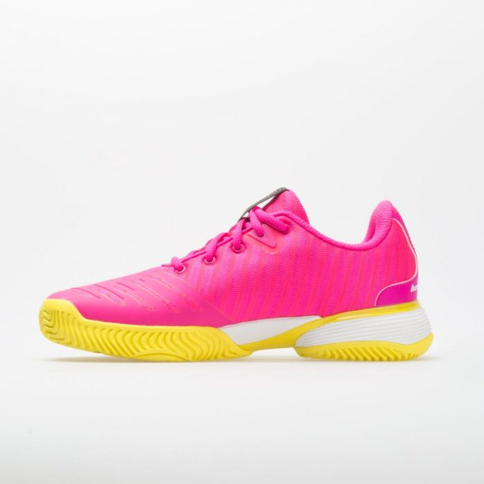 adias Barricade 2018 Junior Shock Pink/White/Yellow: adidas Junior Tennis Shoes