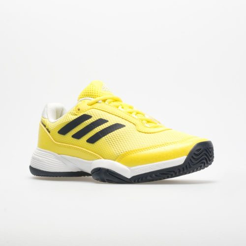 adidas Barricade Club Junior Shock Yellow/Legend Ink/White: adidas Junior Tennis Shoes