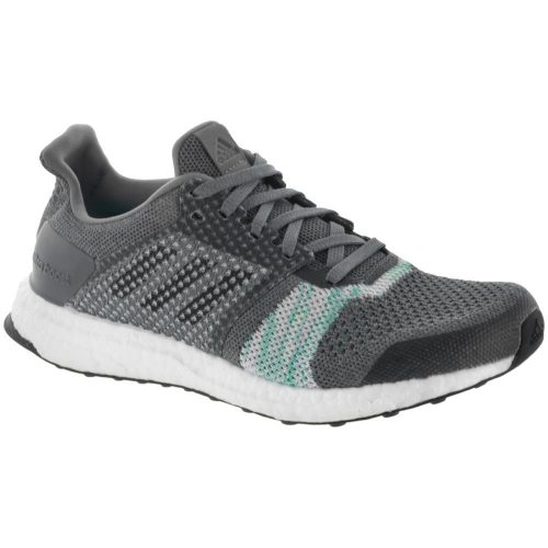 adidas Ultra Boost ST: adidas Women's Running Shoes Crystal White/Black/Green