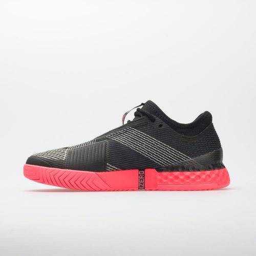 adidas adizero Ubersonic 3: adidas Men's Tennis Shoes Black/Silver/Flame Red