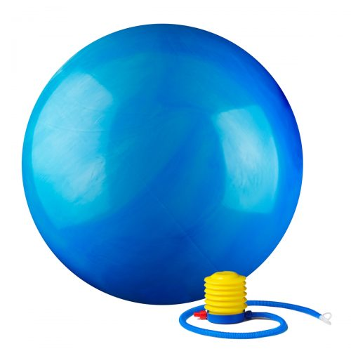 Black Mountain Products 55cm MC Blue Ball 55 cm Static Strength Exercise Stability Ball with Pump Multi-Colored Blue