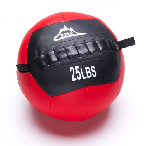 Black Mountain Products Slam Ball 25lbs Black Mountain Fitness Slam Ball for Strength & Endurance Training Red