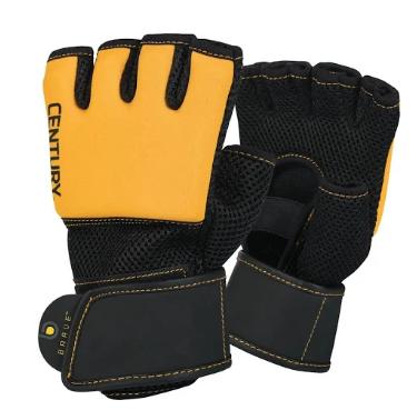 Century 147122p-013250 Brave Mens Gel Glove - Black & Olive Small & Medium