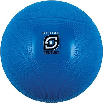 Century 24942P-600815 15 lbs Strive Medicine Ball - Blue