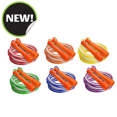 Champion Sports EXR10SET 6 ft. Deluxe XU Jump Rope with Green Handle - Set of 6
