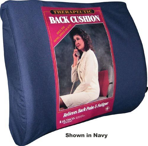 Complete Medical 8596A Lumbar Cushion with Strap - Black