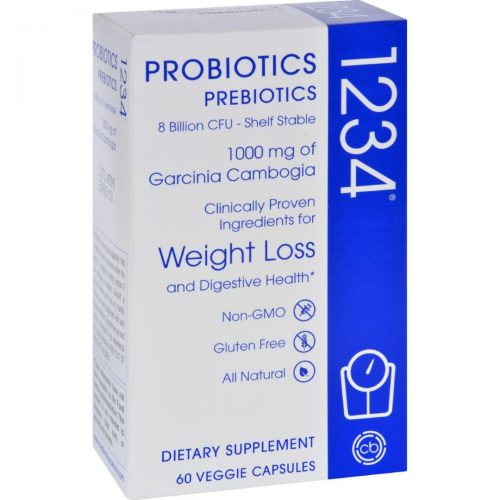 Creative Bioscience HG1607191 Probiotics 1234 - Prebiotics 60 Vegetarian Capsules
