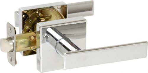 Delaney Contemporary 352526R Kira Series Privacy Door Right Hand Lever Set Polished Chrome