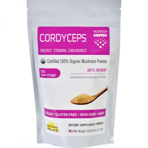Mushroom Matrix HG1551472 3.57 oz Cordyceps Militaris Organic - Powder