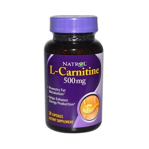 Natrol HG0501148 500 mg L-Carnitine - 30 Capsules