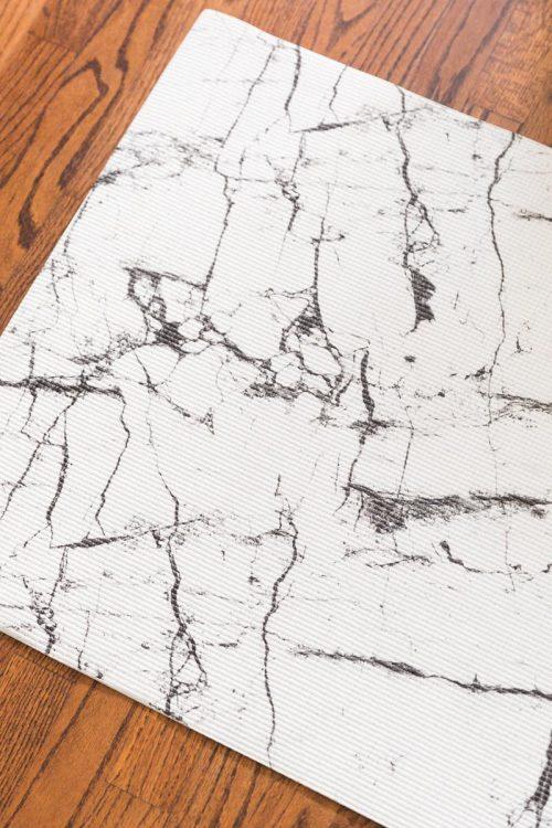 Oak & Reed YM4-1201 White 4 mm Reversible Yoga Mat Wrap Marble White - Multi Color