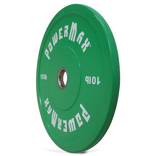 PowerMax 1375513 10 lbs Bumper Plate - Green