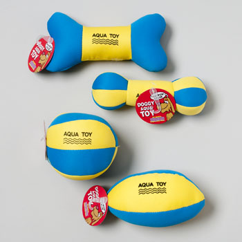 RGP 66745PN Dog Toy Aqua Flotable Blue Yellow 4 Styles In Pdq Pack Of 36