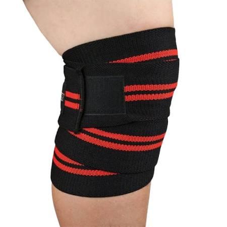Spinto USA 9160043 Mens Knee Wraps Red