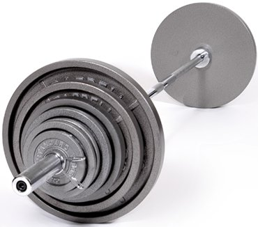 Troy Barbell RSS-90 90 lbs Olympic Plate Weight Set - Gray